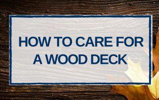 maintenance & care tips for a hardwood deck
