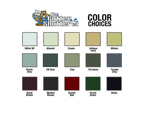 GutterShutter Color Options